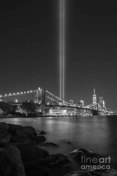Nine Eleven Photograph - September 11th At Dumbo Ny by Michael Ver Sprill