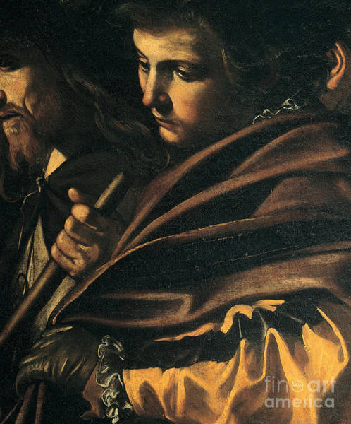 Caravaggio Painting - Seven Works Of Mercy by Caravaggio