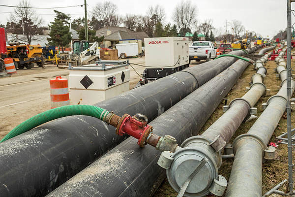 Suburbs Photograph - Sewer Collapse And Repair Works by Jim West/science Photo Library