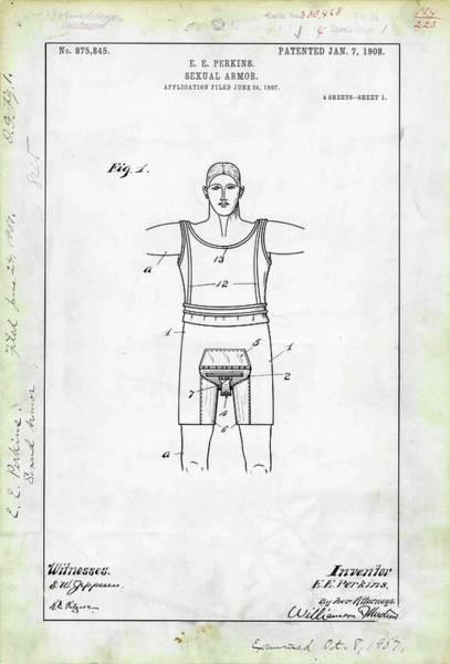 Sexual Armour Patent Art Print