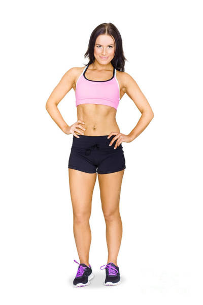 Physique Photograph - Sexy Fit Healthy And Active Young Brunette Woman by Jorgo Photography - Wall Art Gallery