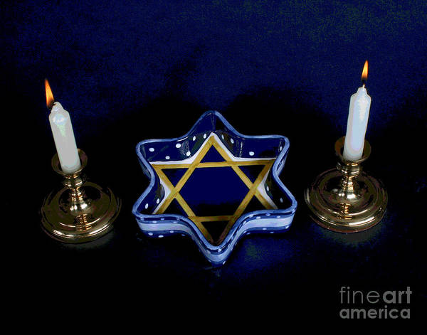 Photograph - Shabbos Candles by Larry Oskin