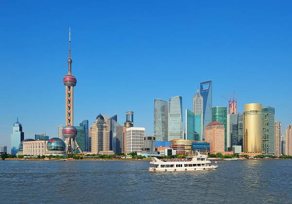 Photograph - Shanghai Skyline by Songquan Deng