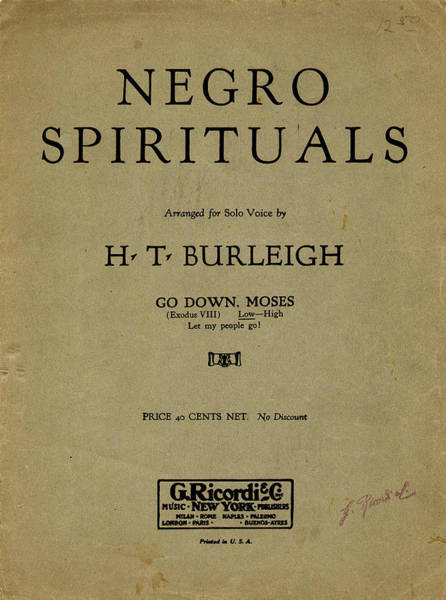 Painting - Sheet Music Spiritual by Granger
