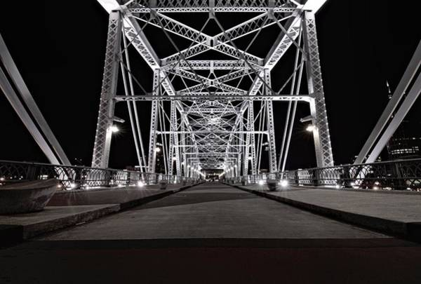 Photograph - Shelby Street Bridge At Night by Dan Sproul
