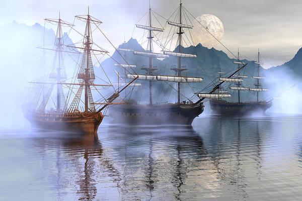Bryce Digital Art - Shelter Harbor by Claude McCoy