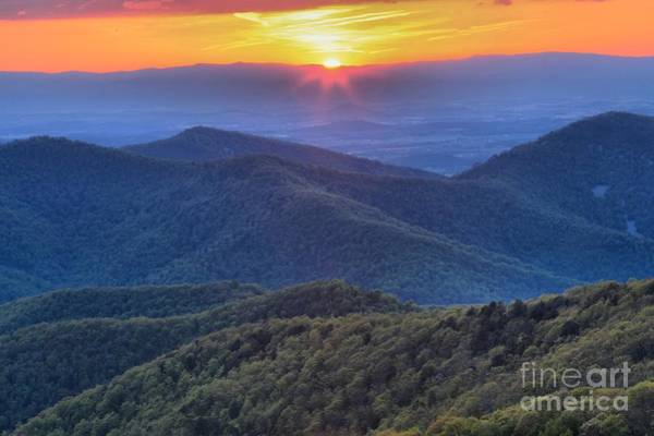 Photograph - Shenandoah Sunset by Adam Jewell