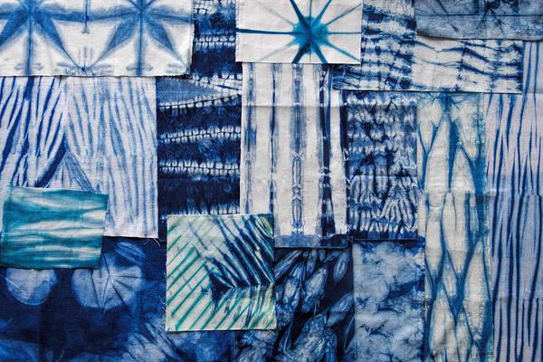 Dying Painting - Shibori Patchwork Indigo by MGL Meiklejohn Graphics Licensing