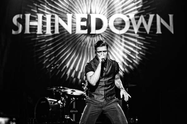 2013 Photograph - Shinedown  Brent Smith by William Towner