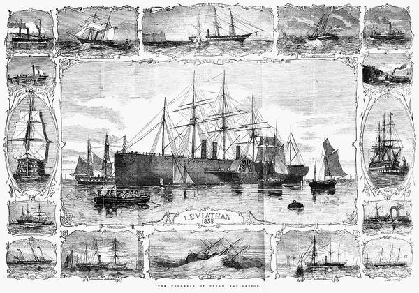 Painting - Ships Great Eastern, 1858 by Granger