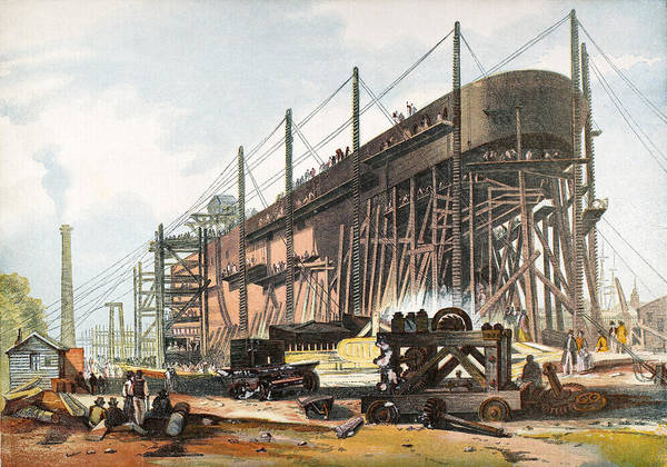 Scaffold Painting - Ships Great Eastern by Granger