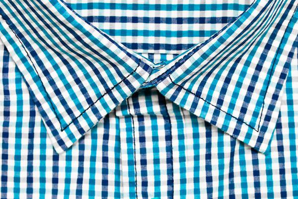 Blue Dress Photograph - Shirt Collar by Tom Gowanlock