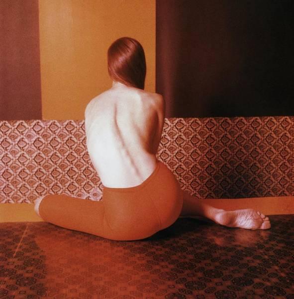 Photograph - Shirtless Model Wearing Jantzen Shapewear by Horst P. Horst