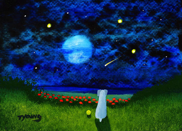 Weimaraner Painting - Shooting Star by Todd Young