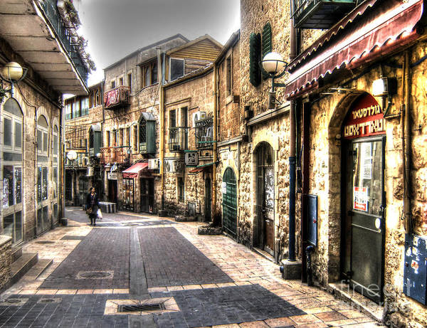 Photograph - Quiet Shopping Street Before The Shops Open by Doc Braham