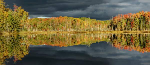 Wall Art - Photograph - Shoreline Of Red Jack Lake At Sunrise by Adam Jones