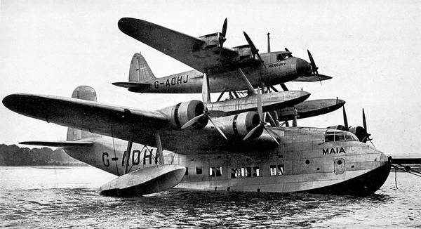 Seaplanes Photograph - Short Mayo Composite Aircraft by Cci Archives