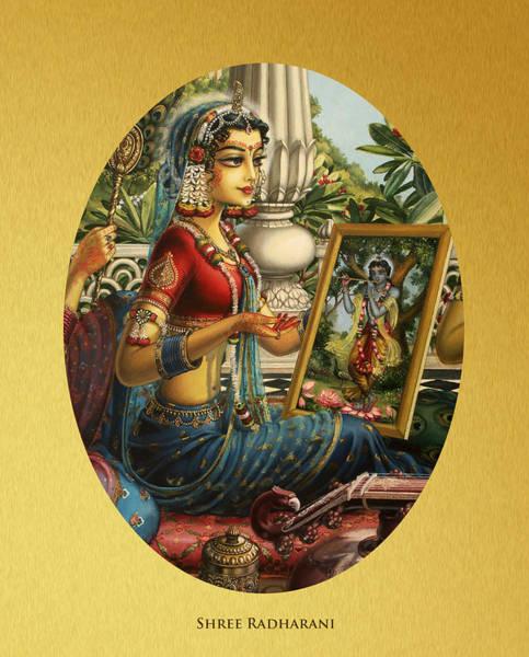 Wall Art - Painting - Shree Radharani by Vrindavan Das