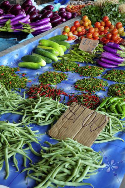 Aubergine Wall Art - Photograph - Sigatoka Produce Market, Sigatoka by David Wall