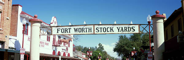 Stockyards Photograph - Signboard Over A Street, Fort Worth by Panoramic Images