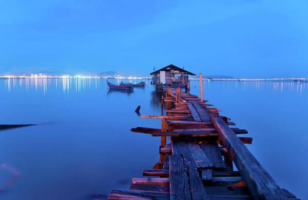 Jetty Photograph - Silence by Zi Yang Lai