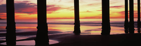 Scripps Pier Photograph - Silhouette Of A Pier In The Pacific by Panoramic Images