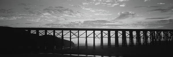 Fort Bragg Photograph - Silhouette Of A Railway Bridge, Pudding by Panoramic Images