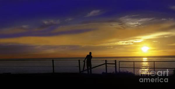 Elliott Digital Art - Silhouette Sunset by Milton Elliott
