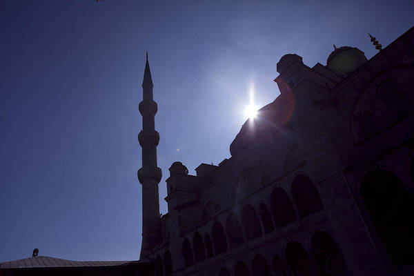 Photograph - Silhouettes Of Blue Mosque Istanbul Turkey by Raimond Klavins