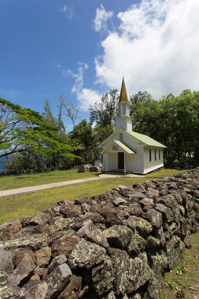 Colony Photograph - Siloama Church, 1885, Kalaupapa by Douglas Peebles
