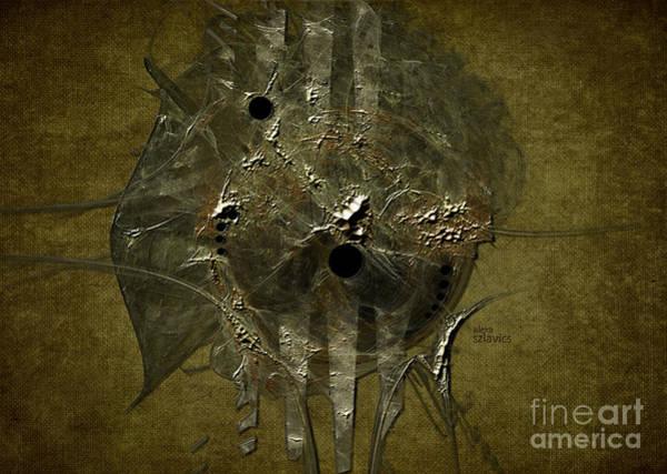 Digital Art - Silver Disc by Alexa Szlavics
