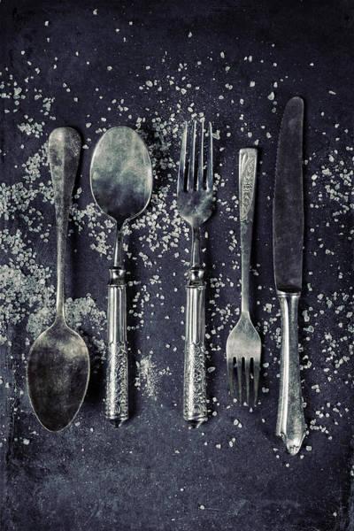 Silverware Photograph - Silverware With Salt by Joana Kruse