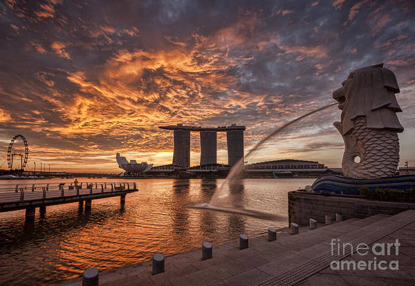 Wall Art - Photograph - Singapore Skyline by Colin and Linda McKie