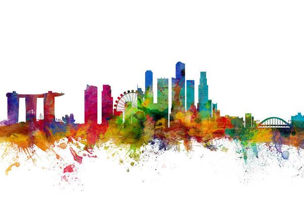 Singapore Skyline Art Print