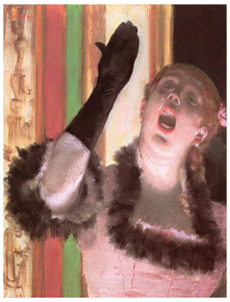 Opera Singer Painting - Singer With A Glove by Edgar Degas