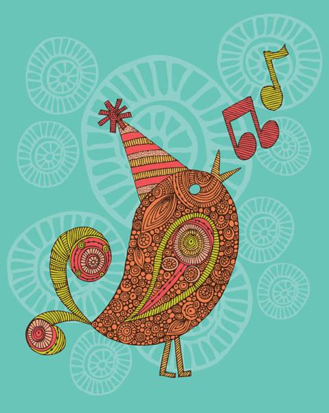 Digital Illustration Photograph - Singing Bird by Valentina Ramos