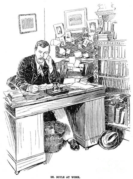 Conan Photograph - Sir Arthur Conan Doyle (1859-1930) by Granger