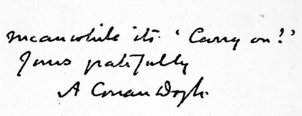 Conan Photograph - Sir Arthur Conan Doyle by Granger