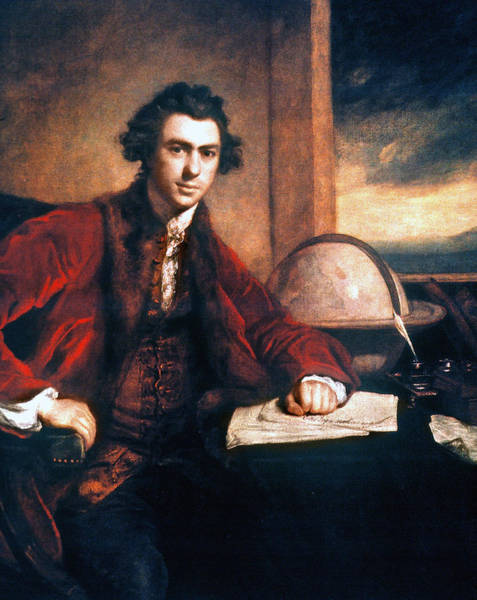 Inkwell Painting - Sir Joseph Banks (1743-1820) by Granger