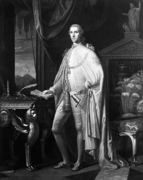 Inkwell Painting - Sir William Hamilton (1730-1803) by Granger