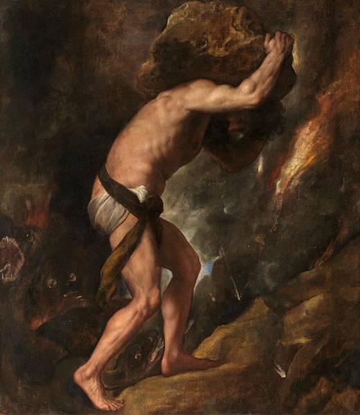 Prado Wall Art - Painting - Sisyphus by Titian