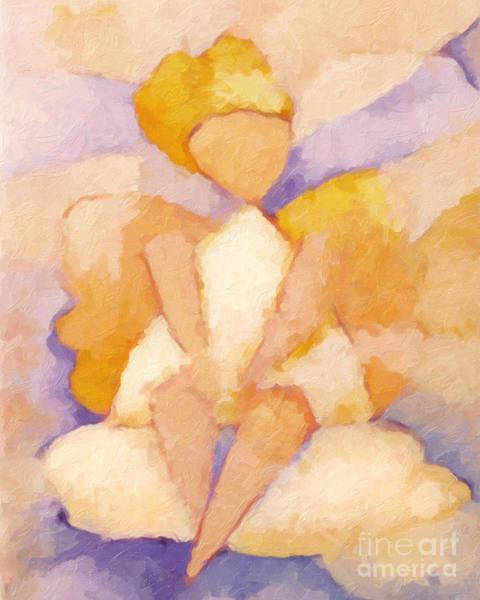 Painting - Sitting Angel by Lutz Baar