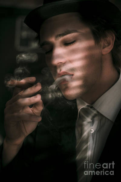 Cigar Photograph - Sixties Vintage Detective by Jorgo Photography - Wall Art Gallery
