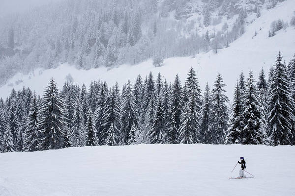 Wall Art - Photograph - Skier Skiing Down Slope, Morzine by Steele Burrow