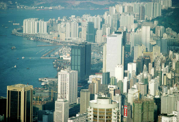 City Centre Photograph - Skyscrapers Of Hong Kong by Steve Allen/science Photo Library
