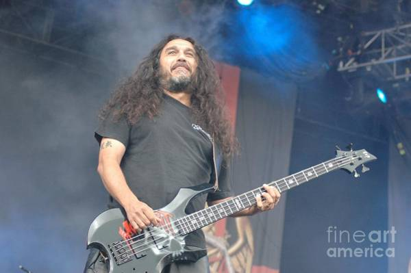 Photograph - Slayer - Tom Araya by Jenny Potter