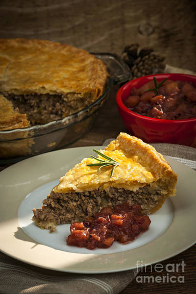 Photograph - Slice Of Tourtiere Meat Pie  by Elena Elisseeva