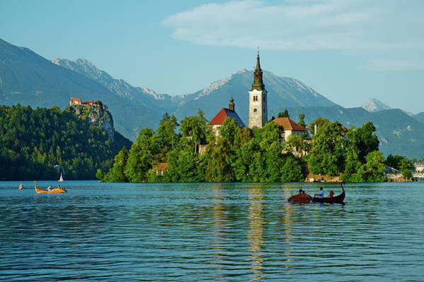 Maria Island Wall Art - Photograph - Slovenia, Bled, Lake Bled And Julian by Tuul & Bruno Morandi