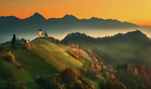 Church Photograph - Slovenian Autumn... by Krzysztof Browko