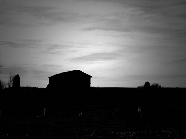 Photograph - Small Barn by Mhiss Little